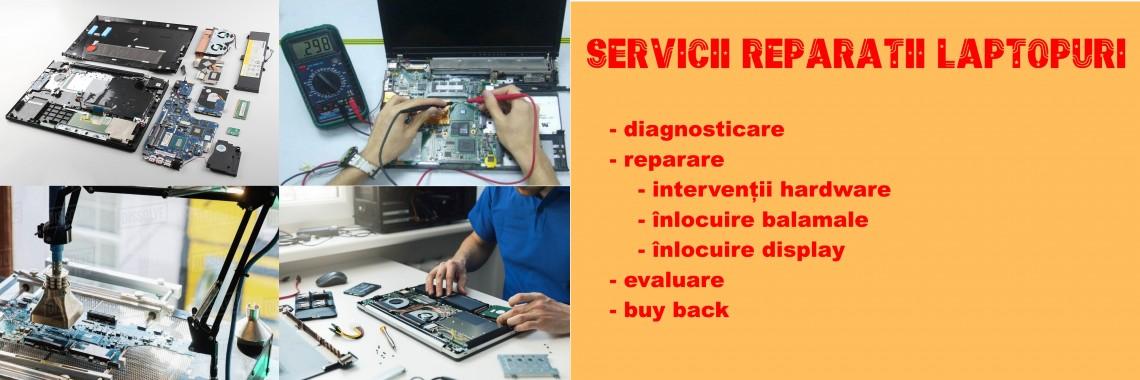 Servicii reparatii laptopuri